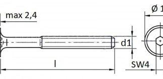 Spojovacie skrutky na nábytok plochá hlava