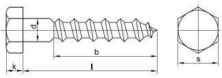 podstavcové vruty DIN 571