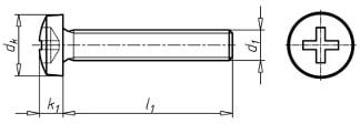 skrutka s valcovou hlavou DIN 7985