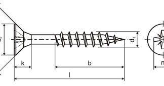 skrutky do dreva čiastočný závit