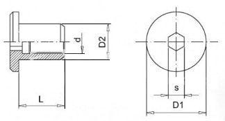 nábytkárska matica s plochou hlavou - rozmery