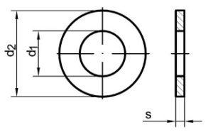 podložka plochá DIN 125 A rozmery