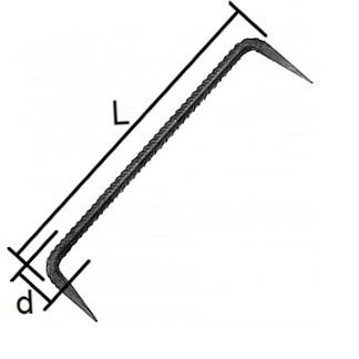 tesárska skoba - kramľa rozmery